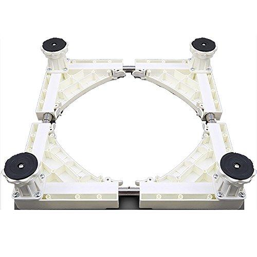 Rouleau télescopique multifonctionnel de chariot de meubles de base mobile réglable avec 4 roues pivotantes réglables de caoutchouc de pieds forts pour la machine à laver et le réfrigérateur de dessiccateur