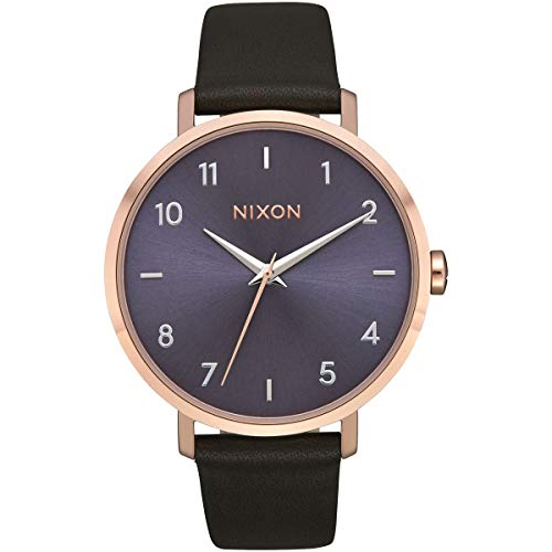Nixon Arrow Leather Rose Gold/Storm One Size
