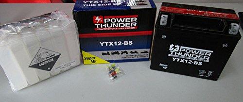 Batería Power Thunder YTX12-BS (sellada con ácido a Corredo) 12V/10AH