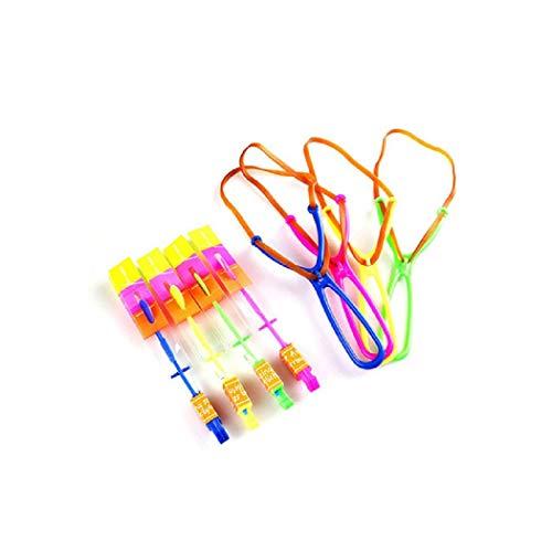 akete Copters Bambus Libelle Slingshot LED Hubschrauber Parteibevorzugung Flash Spielzeug Liefert Zufällige Farben ()