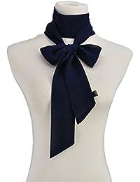 Couleur Pure Echarpe Ruban Etroit Long Vogue Accessoire Indispensable Fille Hiver