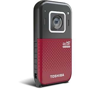 """Toshiba CAMILEO BW20 Caméscope portatif 5MP CMOS Full HD Noir, Rouge - caméscopes numériques (5 MP, CMOS, 25,4 / 3,2 mm (1 / 3.2""""), 5x, Numérique, Carte mémoire, NAND)"""