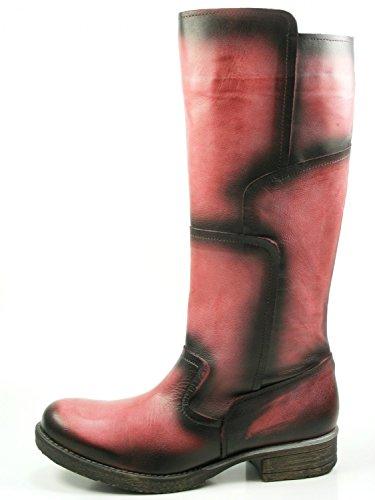 go green Berlin 1-207-15 Damen Schuhe Boots Stiefel Langschaft, Schuhgröße:39;Farbe:Rot (Go Go-stiefel Für Frauen)