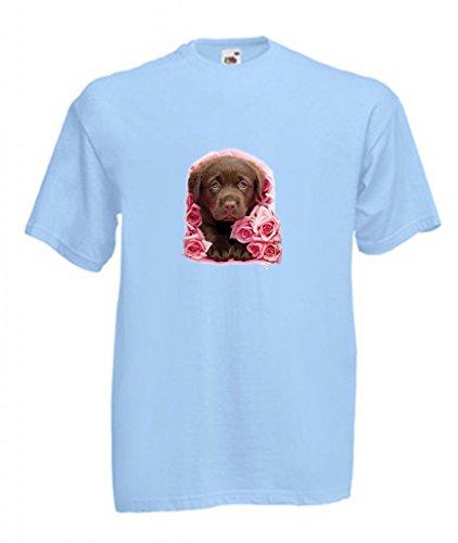 Einfach Tees Schokolade Labrador Puppy Georgie Kinder T-Shirt Gr. 18 Monat, Sky (Puppy T-shirt Tee)