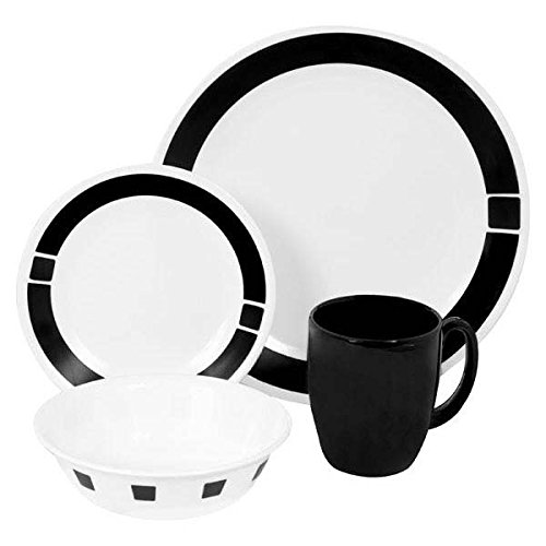 corelle-16-piece-vitrelle-glass-urban-black-chip-and-break-resistant-dinner-set-service-for-4-black