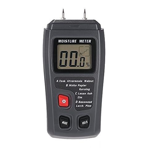 KKmoon EMT01 2 Points Probe Humidimètre Digital en LCD Affichage, 0 ~ 99,9% pour Bois( 4 échelle)