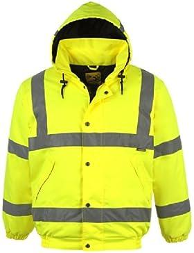 Dunlop para hombre reflectante de alta visibilidad chaqueta Bomber de seguridad reflectantes