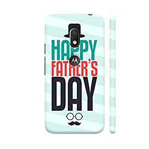 Colorpur Happy Father's Day Funny Retro Designer Mobile Phone Case Back Cover For Motorola Moto G4 Play with hole for logo | Artist: Designer Chennai