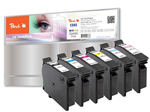 Preisvergleich Produktbild Peach Spar Pack Tintenpatronen kompatibel zu Epson T0801, T0802, T0803, T0804, T0805, T0806