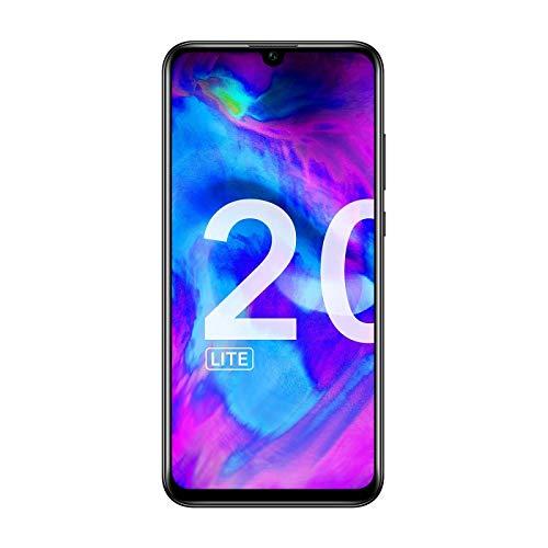 """Honor 20 Lite - Smartphone de 6.21"""" (RAM de 4 GB, Memoria de 128 GB, Dual SIM, Cámara Frontal de 32 MP, Triple Cámara Trasera 24+8+2MP, Android), Color Negro [Versión Española]"""
