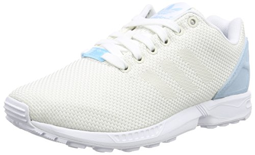 adidas  ZX Flux Weave, Sneakers Basses femme Blanc (White Blue)