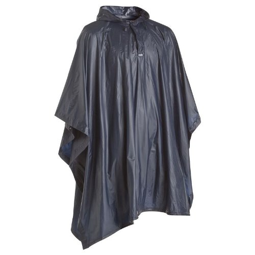 Quechua Poncho 100 Rain Wear, Men's (Navy Blue)