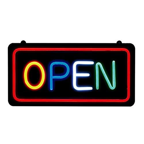 en Outdoor,LED Open Zeichen Für Schaufenster Display Beleuchtet Blinkende Zeichen Super Helle Pub Club Display Licht Super Helle Bar LED-Schild (Offen,Rechteck) ()