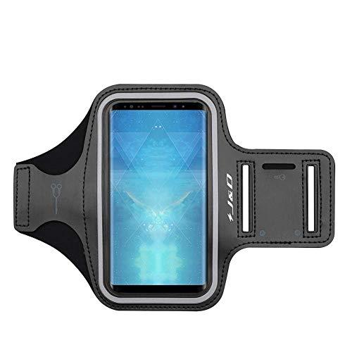 J&D Fascia da Braccio Sportiva per Samsung Galaxy Note 9, Bracciale con Portachiavi Slot, Connessione Auricolare Perfetta Durante l'Allenamento ed Esecuzione - Nero