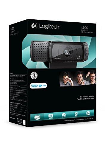 Logitech C920 HD Pro Webcam (mit USB und 1080p) schwarz