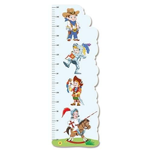 Kostüm Kreative Für Jungs - Kostüme Jungs Ritter Pirat Cowboy Deko Messlatte fürs Kinderzimmer im Norwegian Style Kinderdeko Holz MDF *Made in Germany 75 cm KMS015