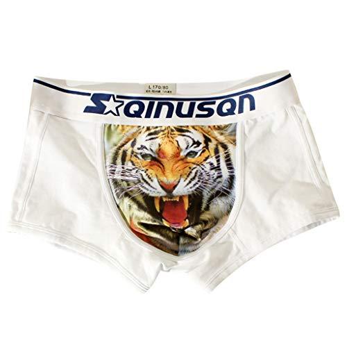 EUZeo Herren Sexy 3D Tiger Drucken Atmungsaktive Tasche Boxershort Funny Unterhose Unterwäsche Anglerhose Boardshorts