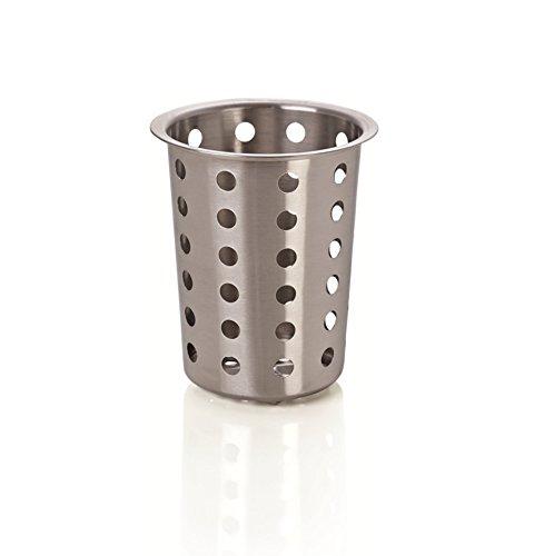 Kerafactum® - runder Besteckkorb Spülkorb Korb für Bestecke und Kleinteile Spülmaschine Spülmaschinenkorb universal Besteckköcher Besteckbecher rund Edelstahl grobmaschig - Cutlery Basket