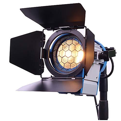 650W Película de Fresnel de tungsteno Foco Iluminación del estudio de vídeo Barndoor enfoque tenue a medida que arri