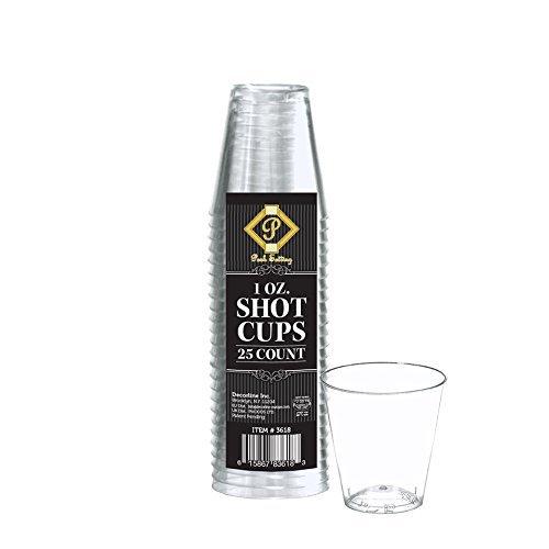 Mini Martini-shaker (Posh Unzen Klar Hartplastik Schnapsgläser 100Zählen 100 count farblos)