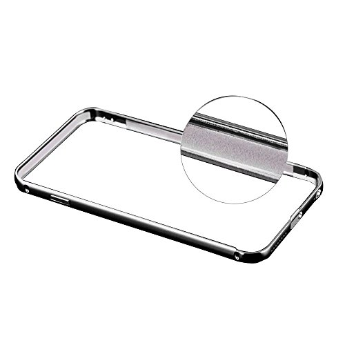 iPhone 6S Hülle, iPhone 6 Hülle, MOMDAD Luxus Mirror Metall Zurück Case Cover für iPhone 6S 6 Schutzhülle Ultra Thin PC Hart Aluminium Abdeckung Telefonkasten Spiegel Transparent Strass Kristall Cryst Schwarz