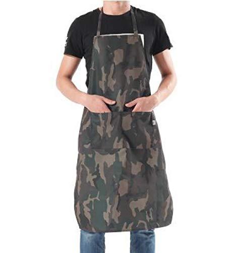 Alvar Schürzen für Damen, Herren und Chef, öldicht, wasserfest, Küchenschürze, Kochschürze, Kochschürze, Kochschürze, Kochschürze, 89 x 64 cm Camouflage