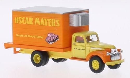 chevrolet-41-46-delivery-truck-oscar-mayers-modellauto-fertigmodell-classic-metal-works-187