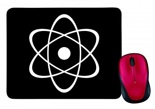 "Mauspad ""ATOMKERN- KERNENERGIE- RADIOAKTIVITÄT- KERNSPALTUNG- ORBITALE- NEUTRONEN- SYMBOL- ZENTRUM- ATOMAR- ATO- RADIOAKTIV"" in Schwarz | Mousepad - Mausmatte - Computer Pad - Mauspad mit Motiv"