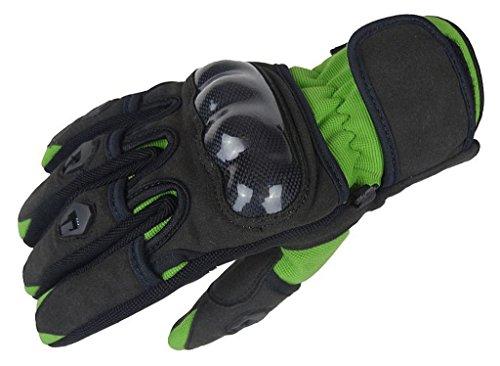 Bangla 5000 Motorradhandschuh Motorrad Sommer Handschuhe Schwarz Grün S M L XL XXL, schwarz-grün, M