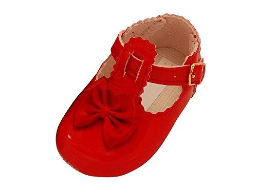 Taufschuhe Baby Schuhe Leder Lackleder Sandalen Taufe Hochzeit Mädchen rot rot