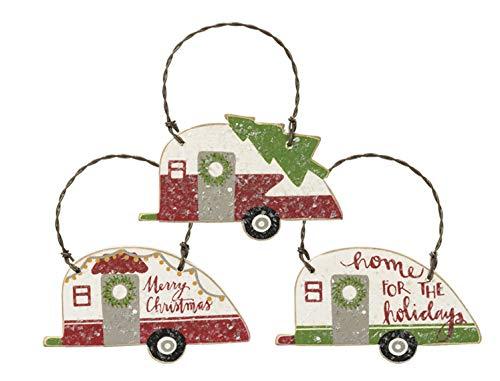 rnamente im Retro-Look, ideal für Mini-Baum oder Geschenkverpackung, 3 Stück ()