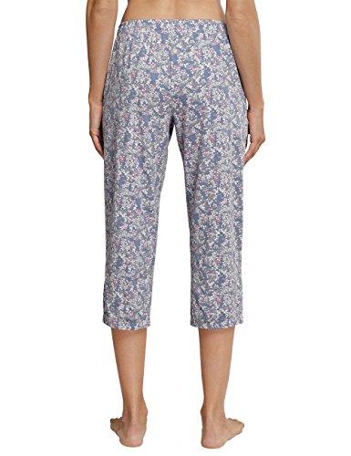 Schiesser Mix & Relax Jerseyhose 3/4 Lang, Pantalon de Pyjama Femme Blau (Jeansblau 816)