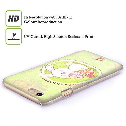 Head Case Designs Renard Noir Tangram Motifs Animaliers Étui Coque en Gel molle pour Apple iPhone 6 Plus / 6s Plus Crème Glacée