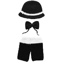 Y56 Für Baby Foto Hat + Hose, New Universal Baby Baby Neugeborene Mädchen Jungen Knit Crochet Swaddle Baby Outfit Fotografie Prop Schlafsack 0–6Monate