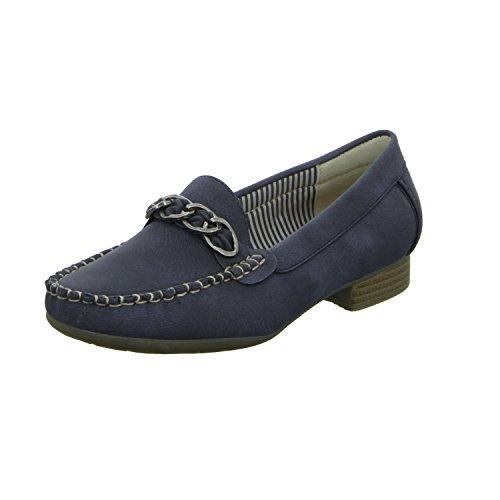 Alyssa A509-19 Damen Slipper Halbschuh eleganter Boden Blau (Blau)