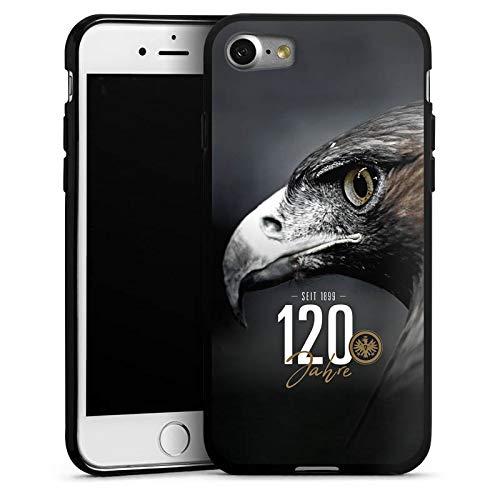 DeinDesign Silikon Hülle kompatibel mit Apple iPhone 7 Case Schutzhülle Eintracht Frankfurt 120 Jahre Adler