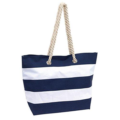 Strandtasche Sylt Badetasche Tragetasche Einkaufstasche Umhängetasche XL blau (Strandtasche Polyester)