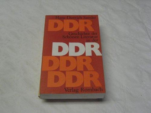 Geschichte der Schönen Literatur in der DDR. Ein Grundriß