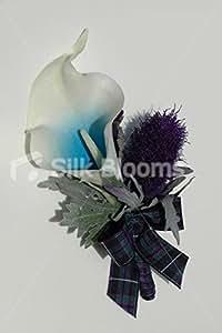 Violet & de chardon bleu Picasso Lily Grooms Boutonnière de mariage