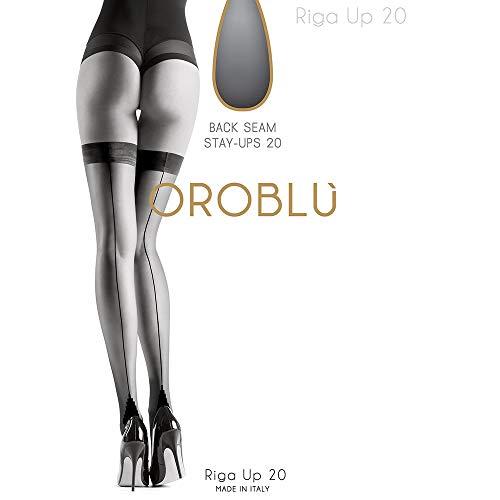 796f10932ad14 Oroblu halterlose Strümpfe Riga Up 20 (L, Nude)