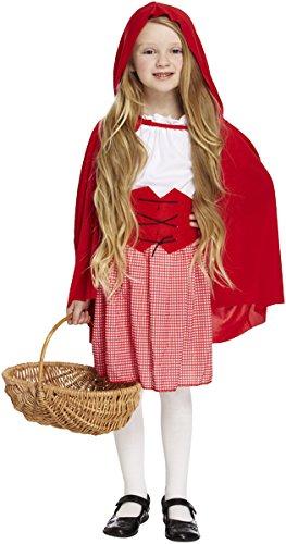 Rotkäppchen-Märchen-Kostüm (Riding Hood Kostüm Mädchen Red)
