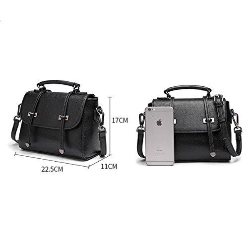 Borsa Signora Messenger Bag Sacchetto Dell'unità Di Elaborazione Di Cuoio Del Messaggero darkgreen