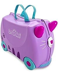Trunki  Maleta correpasillos y equipaje de mano infantil: Gato Cassie (Lila)
