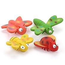 chiwava látex perro juguete con Sonidos Squeak Insectos Voladores cachorro interactiva jugar, varios colores