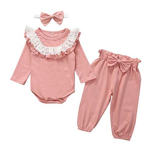 Cwemimifa Säugling Babykleidung Mädchen 50,Kleinkind Baby Mädchen Floral Bedruckte Hoodie Sweatshirt Tops + Pants + Stirnbänder Outfit,Schlafanzugoberteile für Baby-Jungen,Grün
