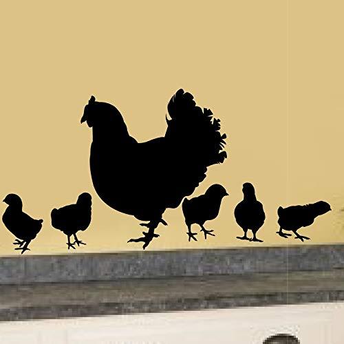 Baby Chick Vinyl Garden Farm Theme Kitchen Porch Vinyl Wall Decal Home Decor ()