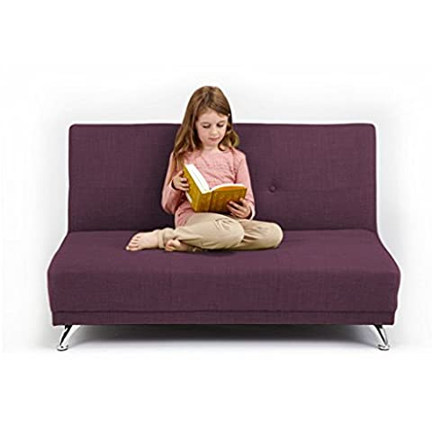 Ready Steady Bed 2-Seater Convertible Clic Clac Children's Sofa Bed, Plum Purple