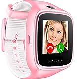 XPLORA 3S - Wasserdichte Telefonuhr (SIM-Free) - Sprachanrufe, Messenger, Schulmodus, Sichere Bereiche, SOS, GPS-Ortung, Kamera und Schrittzähler (PINK)