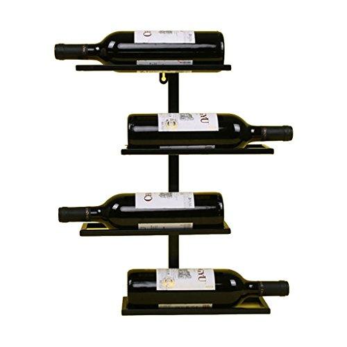 Xing Hua home Weinregal Kreuz Horizontal, Bar Theke Display Rack Weinregal, Weinregal Kann 4 Flaschen Setzen (Color : Black, Size : 35*10*45cm)