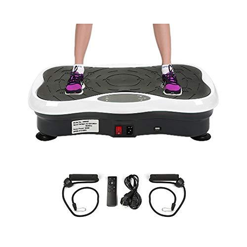 Wefun Fitness Plate Vibrationstrainer, für Den Büro-Wohnzimmer, Multi-Funktions mit Bluetooth und USB,Vib (Schwarz-Weiss)